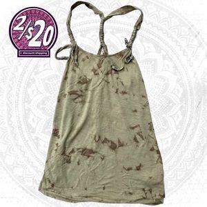 2/20 Guess Beaded Tie Dye Braided Halter Tank Top